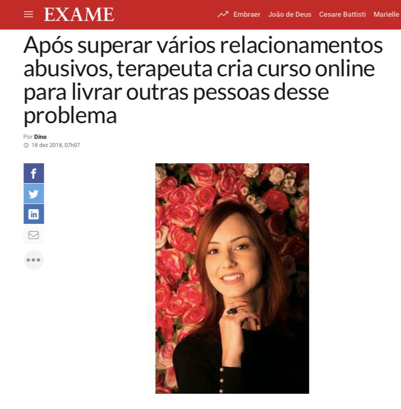 Saiu na mídia - Janaina Campos - Viva o relacionamento que você merece